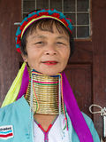 Portrait padaung tribe long-necked tribe woman. Inle lake, Myanmar, Burma Stock Images
