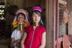Portrait padaung tribe long-necked tribe women. Inle lake, Myanmar, Burma Stock Photos