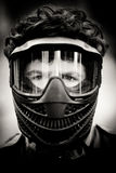Portrait of paintball player Royalty Free Stock Image