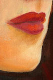 Portrait painting detail. As background Stock Photo
