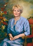 Portrait, Painting, Lady, Watercolor Paint Royalty Free Stock Photo