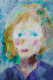 Female bright colored portrait painting  Stock Photography