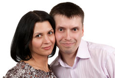 Portrait of a pair of male and female Stock Photos
