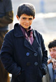 A portrait from pakistan. A smiling boy, portrait! at a slum area in islamabad stock image
