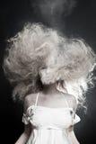 Portrait of a pale woman. The Portrait of a pale woman Stock Image