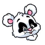 Portrait panda cheerful cartoon illustration Royalty Free Stock Photos