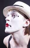 Portrait of pantomime actor with makeup Stock Image