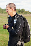 Portrait of the parachutist Stock Photography