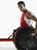 Portrait Of Paraplegic Cycler Stock Image