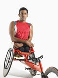 Portrait Of Paraplegic Cycler Stock Photo