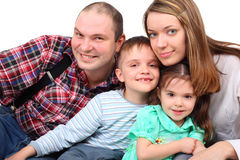 Portrait of parents and two children Royalty Free Stock Photography