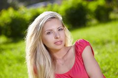 Portrait in park Royalty Free Stock Photography