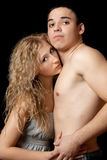 Portrait of a passionate attractive young couple Stock Image