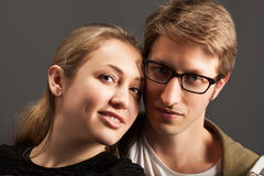 Portrait of a passionate couple Stock Photos