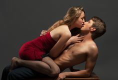 Portrait of a passionate couple Royalty Free Stock Images