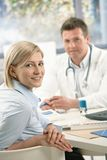 Portrait of patient at doctor Stock Image