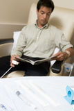 Portrait Of A Patient Receiving Chemotherapy Stock Photography