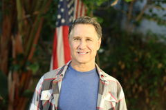 Portrait of a patriotic man.  Royalty Free Stock Photography