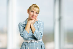 Portrait of peaceful mature woman. Royalty Free Stock Images