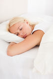 Portrait of a peaceful woman sleeping Stock Image