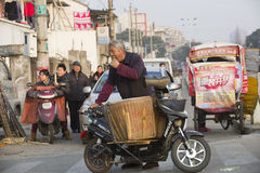 Portrait of a peddler in street Stock Image