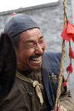 Portrait of the pedlar. Of ancient city Royalty Free Stock Photo