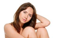 Portrait in peignoir Stock Photo