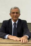 Portrait of a pensioner Stock Photos