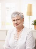 Portrait of pensioner woman Stock Photos