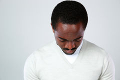 Portrait of a pensive african man Stock Images