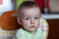 Portrait of pensive boy Royalty Free Stock Photos