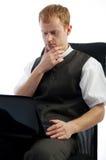 Portrait of pensive businessman Stock Photography