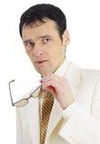 Portrait of pensive businessman Royalty Free Stock Photos
