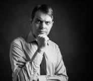 Portrait of pensive businessman. Stock Images