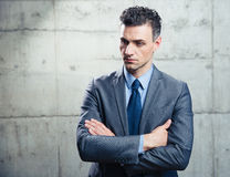 Portrait of a pensive businessman Royalty Free Stock Images