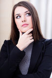 Portrait of a pensive businesswoman Stock Photo