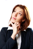 Portrait of a pensive businesswoman looking up at copyspace Royalty Free Stock Image