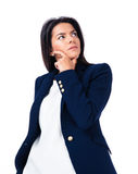 Portrait of a pensive businesswoman looking up Stock Images