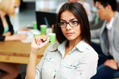 Portrait of a pensive businesswoman in office Royalty Free Stock Photography