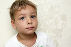 Portrait of a pensive child Royalty Free Stock Image
