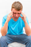 Portrait of pensive depressed man Royalty Free Stock Image