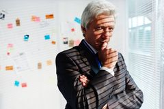 Portrait of Pensive FBI Agent Royalty Free Stock Images