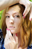 Portrait of pensive girl Royalty Free Stock Image
