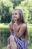 Portrait of pensive girl Stock Photography