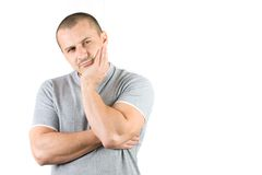 Portrait of a pensive man Royalty Free Stock Image