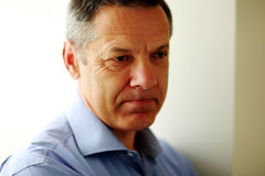 Portrait of a pensive mature man Royalty Free Stock Photo