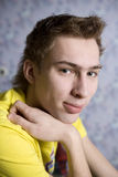 Portrait pensive teen boy Stock Image