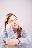 Portrait of a pensive teen girl Royalty Free Stock Photography