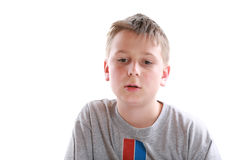 Portrait of a pensive teen Stock Photo