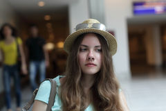 Portrait of pensive teenager Royalty Free Stock Photo